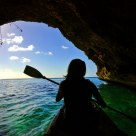 Exploring A Sea Cave Off The West End Of Curacao