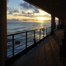 Sunset over the Inside Passage, from the deck of the Oosterdam, a Holland America Line cruise ship.