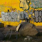 Stoned chair graffiti