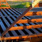 Cattle Guard at Sunset