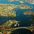 Aerial View of Sydney:Gladesville Bridge