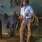 Merton Kewiwi, the foreman of the Ulupalakua Ranch, is a paniolo (Hawaiian cowboy)