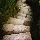Granite Steps to lower garden