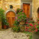 A foreshortening in Civita di Bagnoreggio