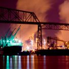 Port of Longview at Night