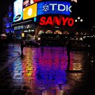 Reflections in Piccadilly Circus, London