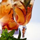 Mint Nectarine Iced Tea