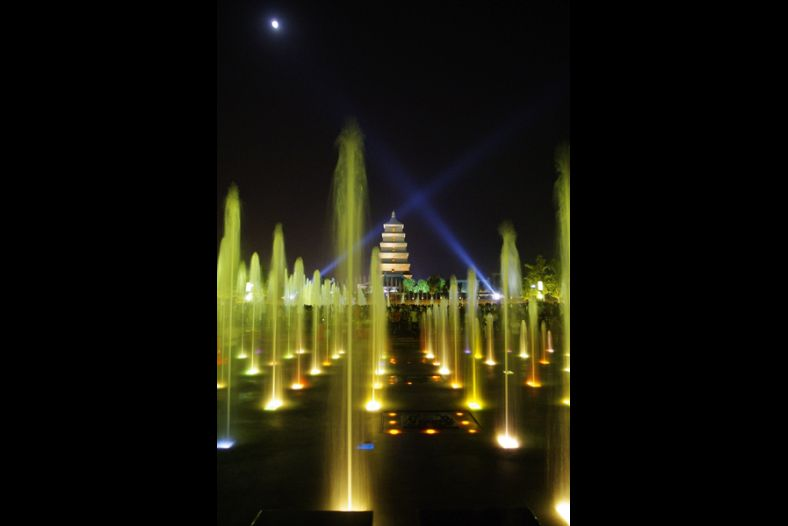 Moonlight, Spotlights, Fountain Lights