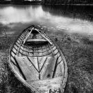 Wooden Boat In The Rain