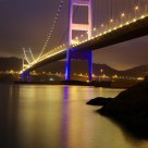 Tsing Ma Bridge at night