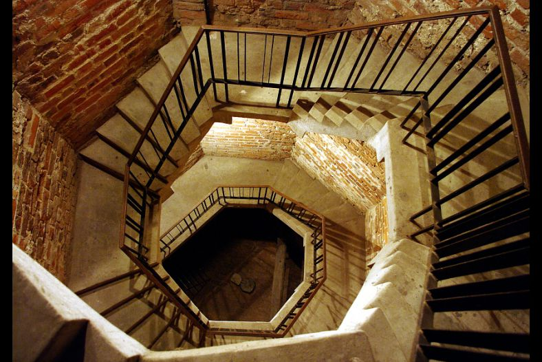 Inside the old tower