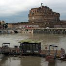 Tiber flood in Rome