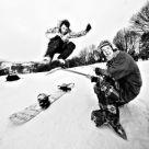 Funny snowboarding