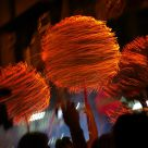 Traditional Fire Dragon Dance in HK