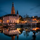 Breda harbor in the early evening