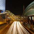 Tel Aviv Highway and train station