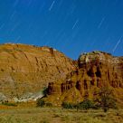 Star Trails over Chimney Rock