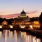 Puesta de sol en el Vaticano / Sunset at the Vatican