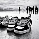 shoes in the irish sand