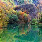Fall at Isola Santa's lake