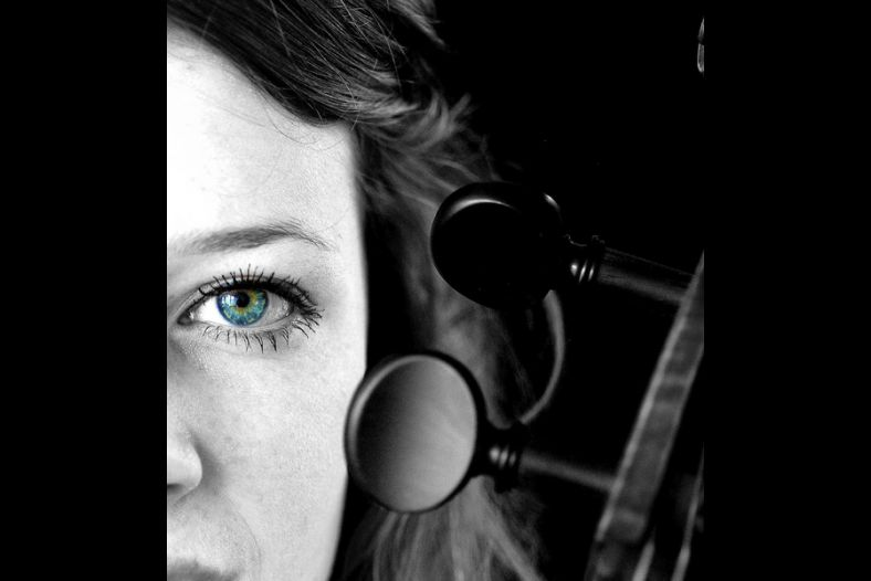 My eye on a cello