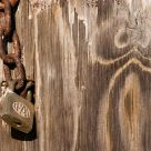 Chain, lock and wood