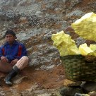 Sulfur mining at Ijen Volcano - Miner's rest