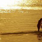 Two Girls Under Sunset