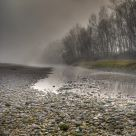 the bed of the river Adige