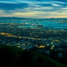 San Francisco bay at dusk