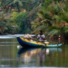 Outrigger canoeist