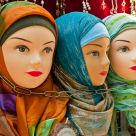 Bosnian dolls with veil  in chains
