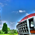 truck and water tower