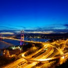 Magic moment of Tsing Ma Bridge
