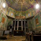 Inside abandoned wooden church