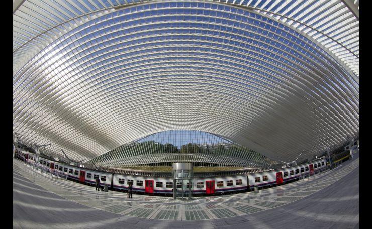 The TGV Train Station in Liège