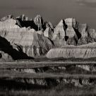 Badlands in Monochrome