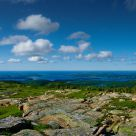 Atlantic ocean from atop the Sargent mountain