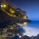 San Agustin beach by night