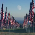 Moonrise At The 911 Memorial