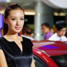 Chinese models in Automobile Fair