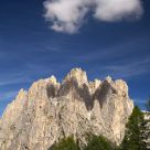 A small cloud on the Dolomiti's mountains