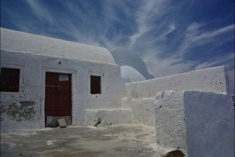 traditional santorini house