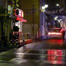 Tokyo midnight street scene