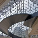 A spiral staircase in the Louvre