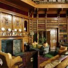 Library at Muncaster Castle