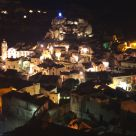 Matera's stones night view