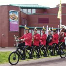 Bike orchestra on the move.