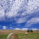 Fields, bales and clouds