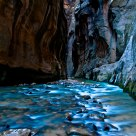 Zion Narrows in Blue